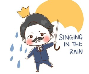 drawing, fanart, and singin in the rain image