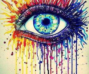 eye and rainbow image