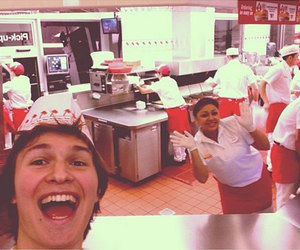 fast food, in n out, and ansel elgort image