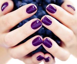 nails, purple, and grapes image