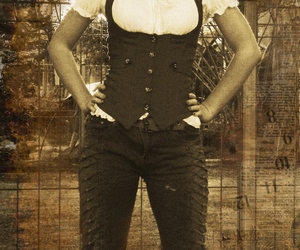 corset, girl, and steampunk image