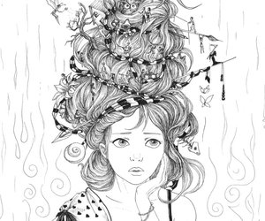 drawing, girl, and fairie image