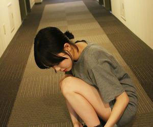 asian girl and fringe image
