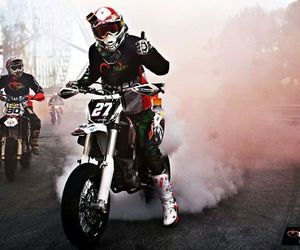 motocross, crazy, and motorbikes image