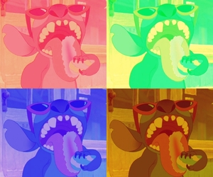 colorful and stitch image