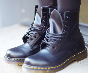 shoes, black, and doc martens image