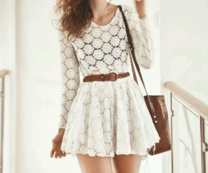 dress, white, and love image