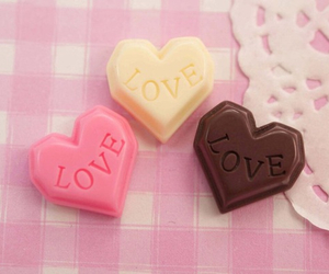 chocolate, pink, and love image