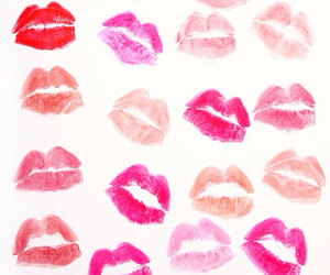 kiss, pink, and lips image