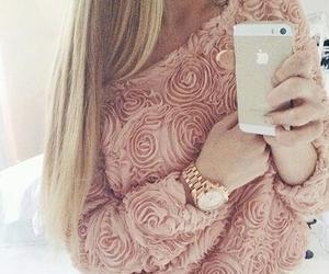 beautiful, rose, and blonde image