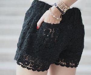 fashion, black, and shorts image