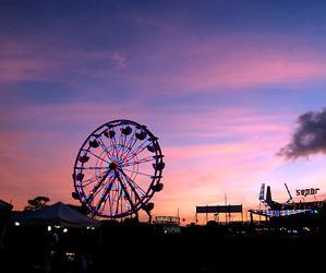 pink, beautiful, and sunset image