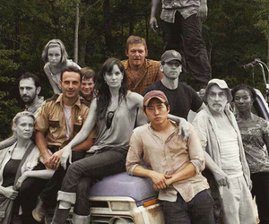the walking dead, black and white, and twd image