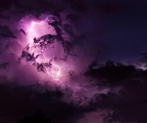 purple, lightning, and sky image