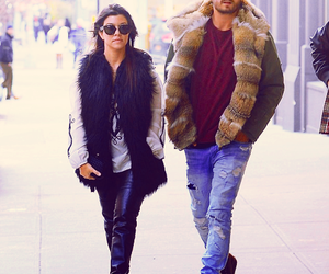 couple, fashion, and kourtney kardashian image