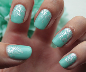 creative, mint green, and nail polish image