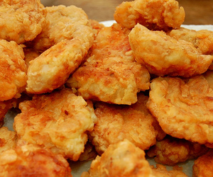 food, Chicken, and nuggets image
