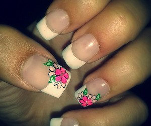 flowers, nails, and nails art image