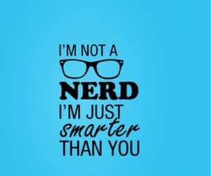 nerd, blue, and glasses image
