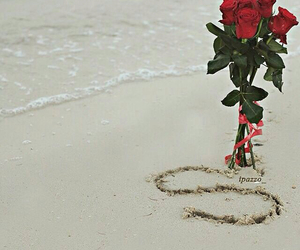 beach, Letter, and red image