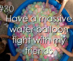 wish, friends, and water fight image