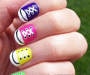 colours, converse, and nails image