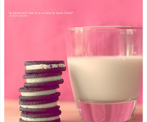 milk, oreo, and Cookies image