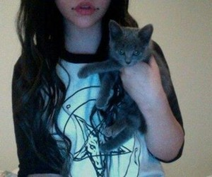 and, cat, and girls image