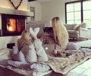 friends, winter, and blonde image