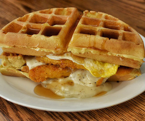 breakfast and waffle image
