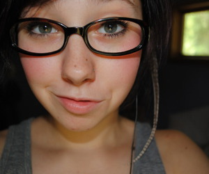 eyes, glasses, and summer image