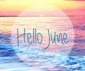june, summer, and love image