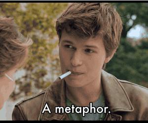 metaphor, augustus waters, and tfios image