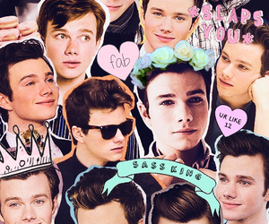 chris colfer, kurt hummel, and Collage image