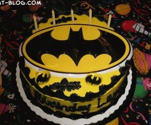 batman, cake, and colors image