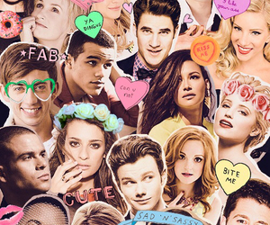 glee, lea michele, and Collage image