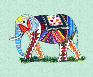 elephant, hipster, and tribal image