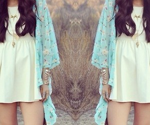 cardigan, girl, and outfit image