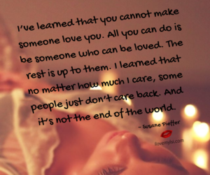 love quotes, relationship quotes, and i can't make you love me image