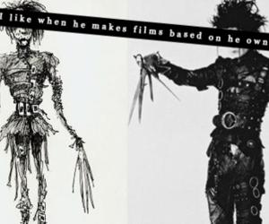 art, black and white, and tim burton image