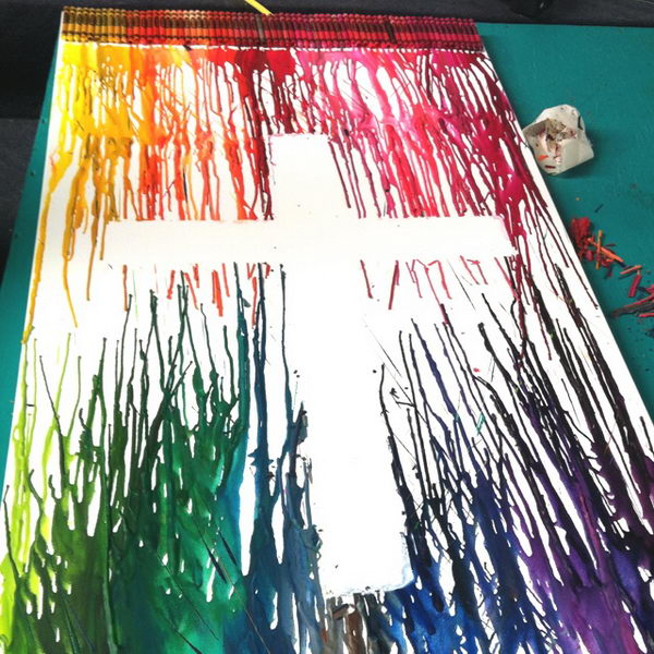 30 Cool Melted Crayon Art Ideas Hative On We Heart It