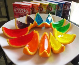 orange, food, and jello image
