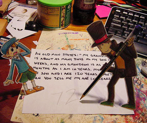 Paper and professor layton image