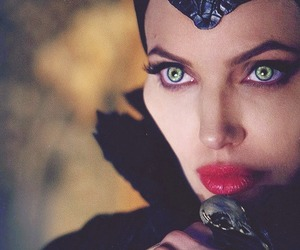 Angelina Jolie, evil, and maleficent image