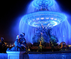 blue, fountain, and france image