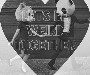couple, weird, and cute image