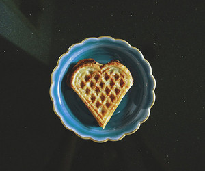 heart, food, and waffles image