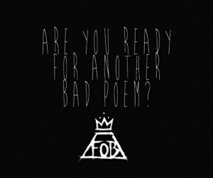 black and white, fall out boy, and FOB image
