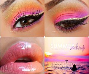 makeup, summer, and eyes image