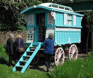 Caravan, shabby chic, and vintage image